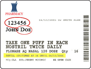 Pharmcap Label