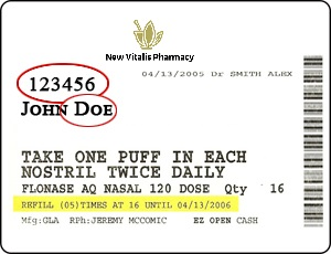 rx label
