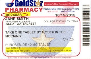 rx label gold star