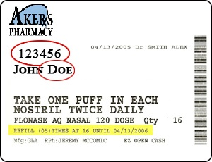 akers rx label