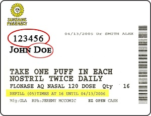 sunshine pharmacy label