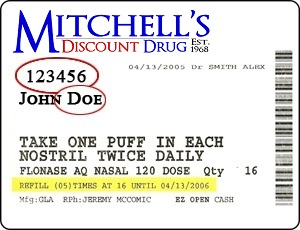 mitchells drug label