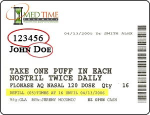 med time label